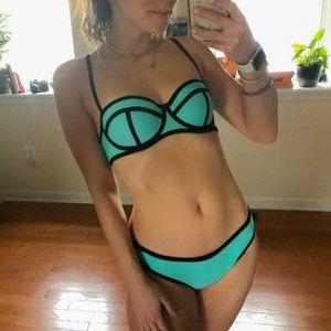 TRIANGL Neoprene Pipped Bikini Set Aquamarine S/L
